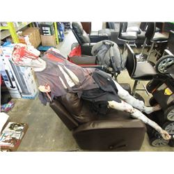 Bonded Leather Chair & Halloween Mannequin