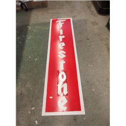 """Metal Firestone Sign - 48"""" x 12"""" - Reproduction"""