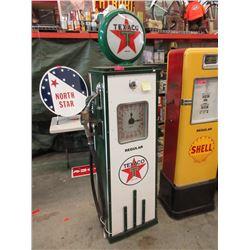 Texaco Clock Face Gas Pump