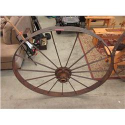 "Vintage 48"" Iron Cog Wheel"