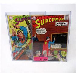 "Two 1960's ""Superman"" 12¢  DC Comics"