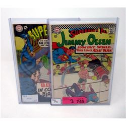 "Two 12¢ ""Superboy & Superman's Pal"" DC Comics"