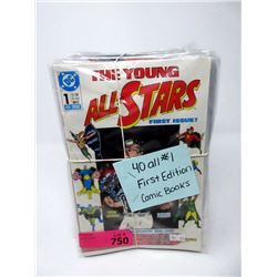 40 All #1 First Edition Comic Books