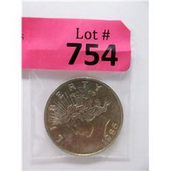 "1986 One Oz. .999 Fine Silver ""Liberty"" Round"