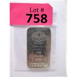 """1 Troy Oz. .999 Fine Silver """"Engelhard"""" Bar"""