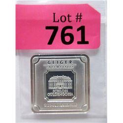 "1 Oz. .999 Fine Silver ""Geiger Edelmetalle"" Bar"