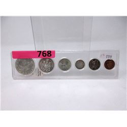 1965 Canadian .800 Silver Coin Set