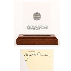 Dwight D. Eisenhower's First Appreciation Medal and Signature