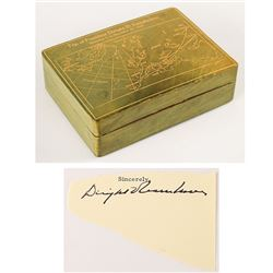 Dwight D. Eisenhower 'Operation Monsoon' Cigarette Box and Signature
