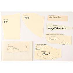 Dwight D. Eisenhower (7) Signatures