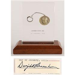 Dwight D. Eisenhower Dinner Token and Signature