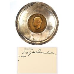 Dwight D. Eisenhower Inaugural Medal Bowl and Signature