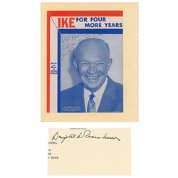 Dwight D. Eisenhower Signature and Irving Berlin Signed Sheet Music