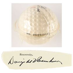 Dwight D. Eisenhower's Personally-Owned 'Mr. President' Golf Ball and Signature