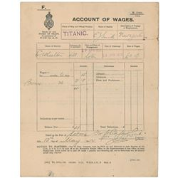 Titanic: Account of Wages