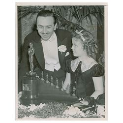 Walt Disney and Shirley Temple Original Vintage Photograph