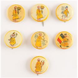 Yellow Kid Pins by High Admiral Cigarettes