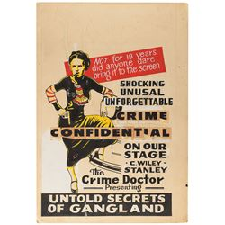 Bonnie and Clyde Hand-Drawn Advertising Poster Mockup