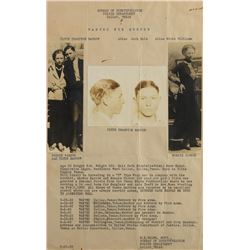 Clyde Barrow and Bonnie Parker Original 1933 Wanted Poster