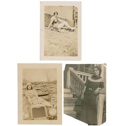 Blanche Barrow Group of (3) Original Photographs with Marie Barrow Autograph Letter Signed