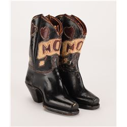 Clyde Barrow Hand-Made Miniature Leather Boots for His Mother