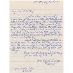 Mickey Cohen Autograph Letter Signed
