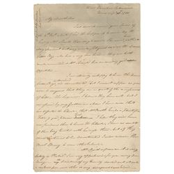 Benedict Arnold Autograph Letter Signed