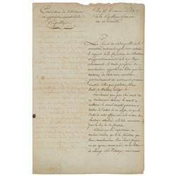 Maximilien Robespierre Letter Signed