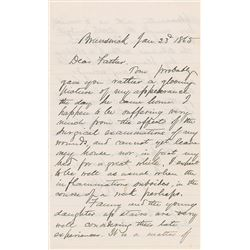 Joshua Lawrence Chamberlain Autograph Letter Signed