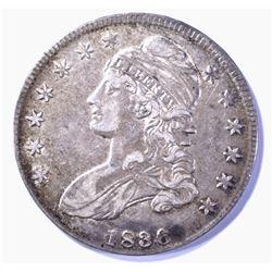 1836 LETTERED EDGE BUST HALF DOLLAR XF