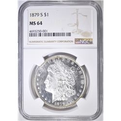 1879-S MORGAN DOLLAR  NGC MS-64