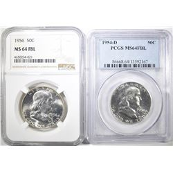 SET OF 2 FRANKLIN HALF DOLLARS: