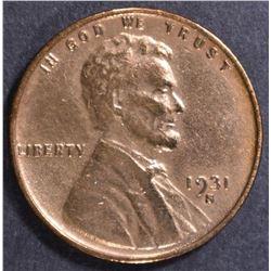1931-S LINCOLN CENT  AU