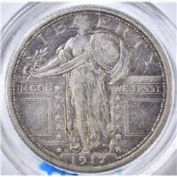 1917-D TYPE 1 STANDING LIBERTY QUARTER  XF+