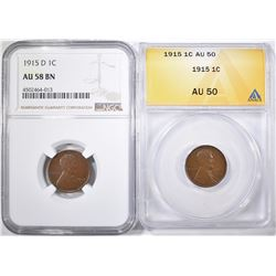 LOT OF 2 LINCOLN CENTS: