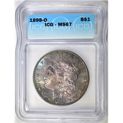 1898-O MORGAN DOLLAR  ICG MS-67