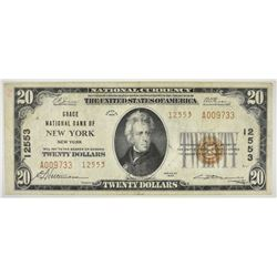 1929 TYPE 2 $20 NATIONAL CURRENCY GRACE NB OF NY