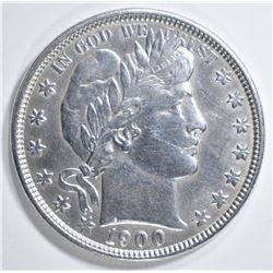 1900-O BARBER HALF DOLLAR  AU/BU
