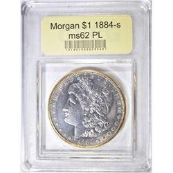 1884-S MORGAN DOLLAR  USCG  CH BU PL