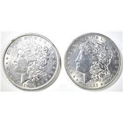 (2) MORGAN DOLLARS CH BU:  1880 & 1885