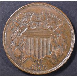 1866 2 CENT PIECE  CH UNC