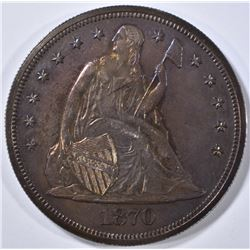 1870 SEATED LIBERTY DOLLAR  CH PROOF