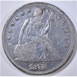 1872 SEATED LIBERTY DOLLAR  AU