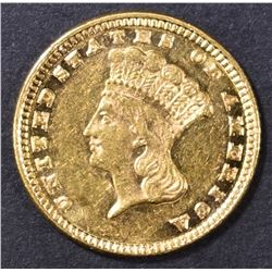 1885 $1 GOLD INDIAN PRINCESS  BU PL
