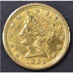 1851-O $2.5 GOLD LIBERTY  CH AU