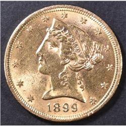 1899 $5 GOLD LIBERTY  VCH BU