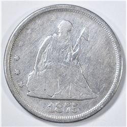 1875-S 20 CENT PIECE  VG