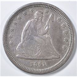 1841-O SEATED LIBERTY QUARTER  VF/XF