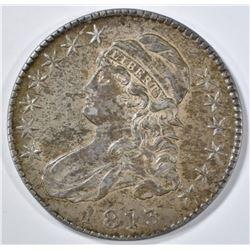 1813 BUST HALF DOLLAR  50/UNI AU/BU LUSTER