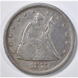 1875-S 20 CENT PIECE VF